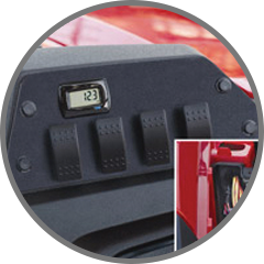 SWITCH PLATE/VOLT METER/WIRE HARNESS