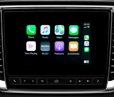 "LX Double Cab 7"" Touchscreen Multimedia System with Apple Car Play"