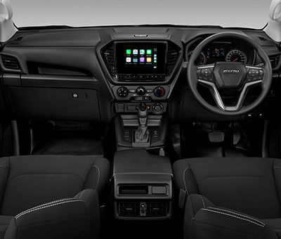 "Isuzu LX Double Cab Interior with 9"" Touchscreen"