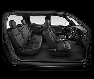 X-Terrian Double Cab Seat Configuration