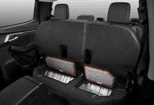 X-Terrian Double Cab Rear Seat Storage