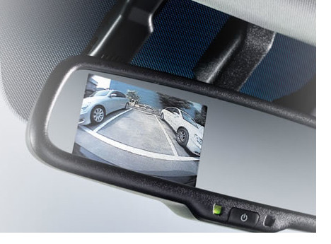 Reversing camera in mirror