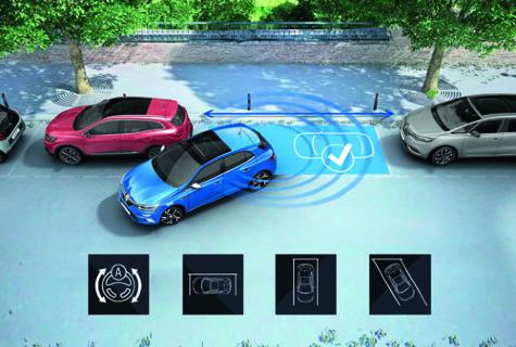 Proximity sensors with reversing camera