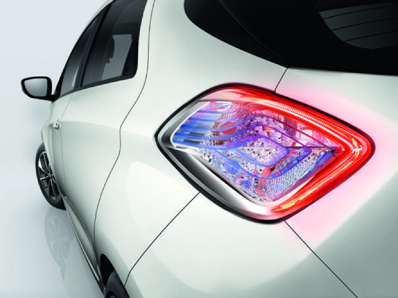 Streamlined rear lights